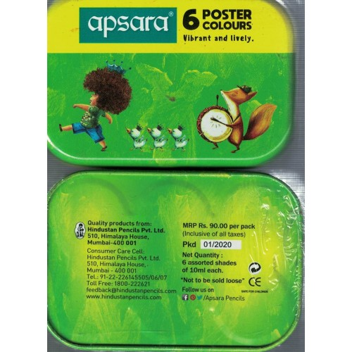 Apsara 6 Poster Colours (Pack of 1) KS01391