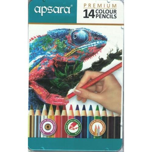 Apsara Premium 14 Colour Pencils KS01308