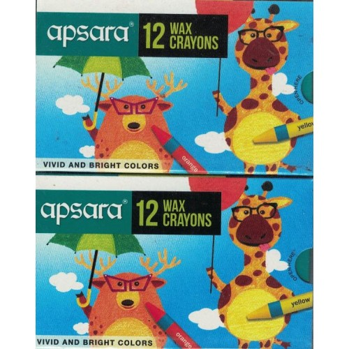 Apsara Wax Crayons 12 Shades (Pack of 10) KS01381