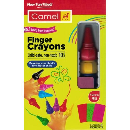 Camel Finger Crayons 10 Shades (Pack of 1)  KS01386