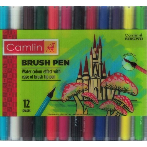 Camlin Brush Pen 12 Shades (Pack of 1) KS01388