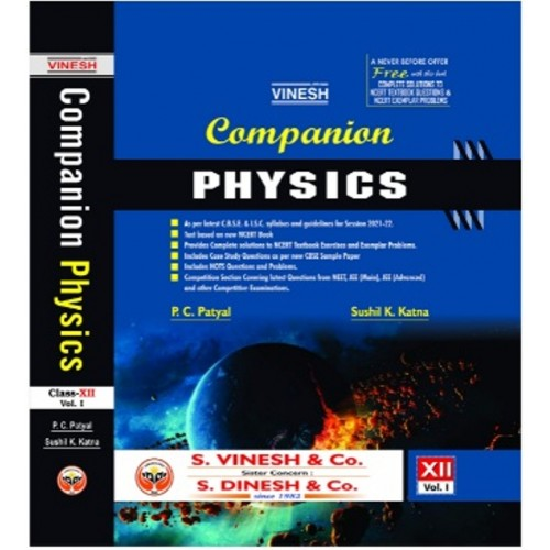 Companion Physics  for Class 12th Volume 1 and 2 with NCERT Textbook questions ( Set of 3 books )