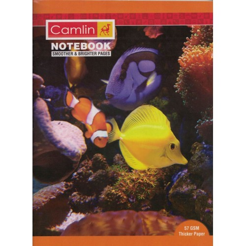 Note book camlin 180 Page  A4  Crown Singe Line-Interleaf Size 24 x 18 KS00144F (Pack of 6 Notebooks)