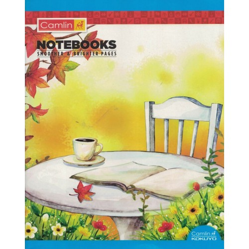 Note book camlin 180 Page  A4 Jumbo  Singe Line-Interleaf Size 25.5x20.5 KS00138C