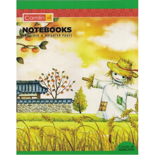 Note book camlin 180 Page  A4 Jumbo Medium Square Line  Size 25.5x20.5 KS00138B
