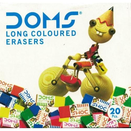 Doms Long Coloured Erasers (Pack Of 5) KS01380