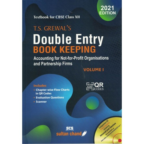 Double Entry Book Kiping Class 12th T.S Grewal  Vol 1 KS01196 (Session 2021-22) Examination