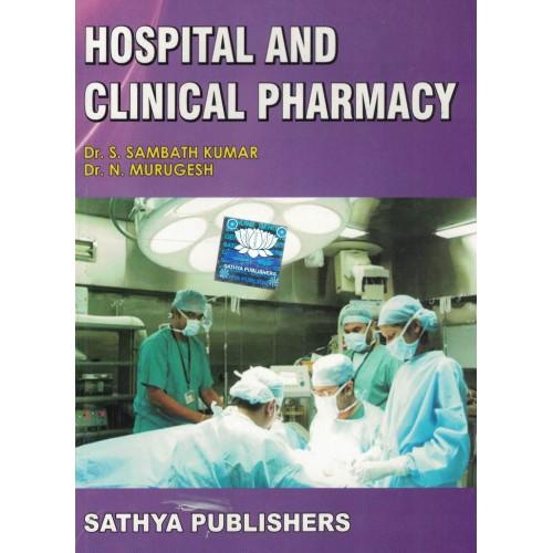Hospital And Clinical Pharmacy By Dr. S. Sambath Kumar KS01149