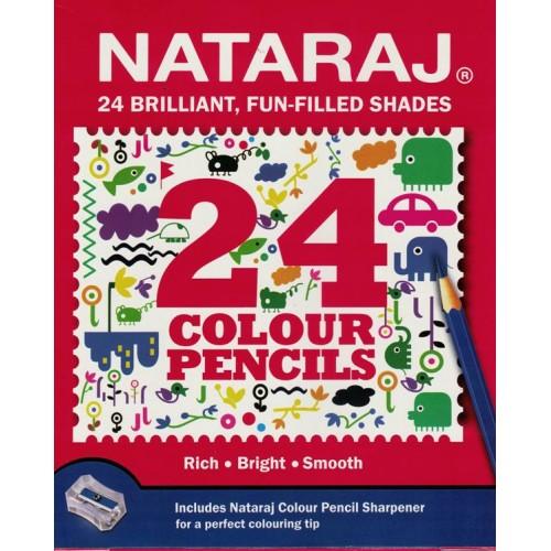 Nataraj 24 Colour Pencils (Pack of 1) KS01385